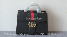 Gucci Monogram Black Leather Bag