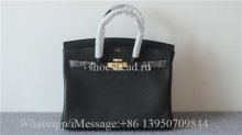 Hermes Black Leather Bag