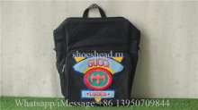 Gucci Backpack Canvas Splice Nylon Loved Black
