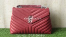 YSL Saint Laurent Monogram Wine Red Bag