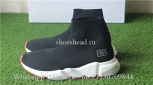 BB Balenciaga Speed Trainer Sock Black White Red