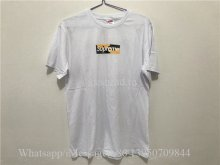 Supreme White Tshirt With Bape Box Logo