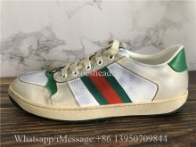 Gucci Screener Leather Dirty Lace-up Sneaker