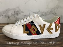 Gucci Ace Embroidered Low Top Sneaker Loved