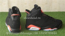 Authentic Air Jordan 6 Retro Black Infrared Nike Back Logo