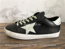 GGDB Golden Goose Deluxe Distressed Superstar Sneaker Black