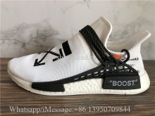 Off White x Pharrell x Adidas NMD Hu Race Trail White Black
