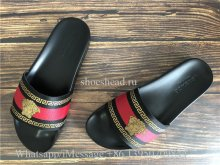 Versace Red Slides