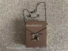 Louis Vuitton black LV Logo Necklace