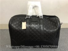 Gucci Signature Leather Duffle Luggage Travel Bag
