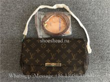 Original Louis Vuitton Favorite Monogram With Accessories MM Brown Shoulder Bag