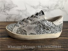 Kid Golden Goose GGDB Superstar Sneaker Grey Crystal