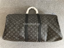 Original Quality Louis Vuitton Black Leather Travel Bag