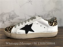 GGDB Golden Goose Super Star Sneaker Leopard Leather