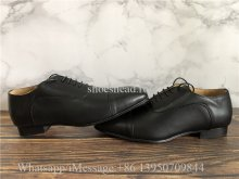 Christian Louboutin Greggo Flat Black Leather Oxford Shoes
