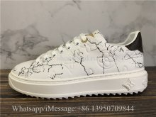 Louis Vuitton Low Top Shoes White LV Print