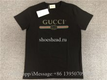 Gucci Logo Printed Cotton T Shirt