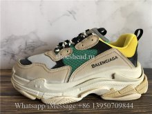 Balenciaga Fall Winter Triple S Sneaker Grey Green Yellow