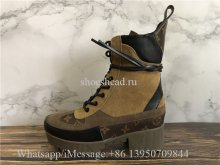 Louis Vuitton Laureate Platform Desert Boot Brown