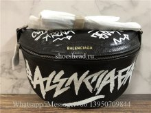 Original Quality Balenciaga Souvenir Graffiti-Print Fanny Belt Bag