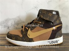 Off White x Air Jordan 1 Louis Vuitton Brown