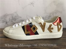 Super Quality Gucci Ace Embroidered Sneaker Loved White