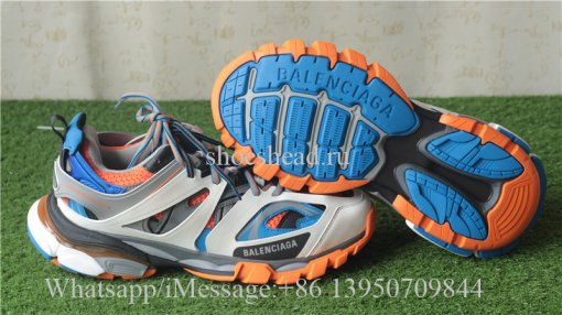 Balenciaga Sneaker Tess.s.GomMa Maille Black Blue And Orange