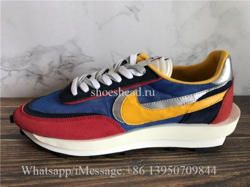 Update Sacai x Nike Ldwaffle Daybreak Blue Red Yellow