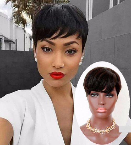 Short Black Pixie Wigs For Black Women Natural