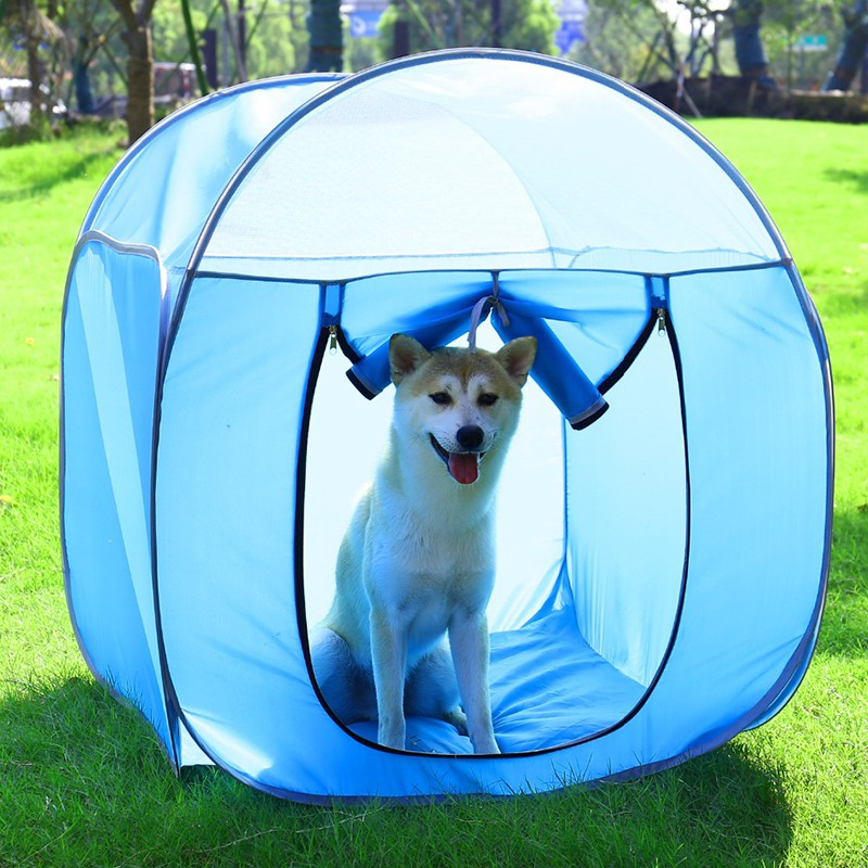 Camping Beds For Tents >> Folding Waterproof Pets Cat Tent Houses Pet Beds Oxford Outdoor Camping Travel Home Cat Dog Kennel Cage Pet Health Product