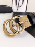 Gucciss Signature leather belt W3.8CM Gold