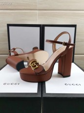 Gucciss Leather High heels Shoes 34-42 Brown