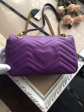 Gucciss GG Medium Marmont Leather Shoulder Bag 443497 Purple
