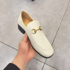 Gucciss Cow Leather Shoes White 34-40