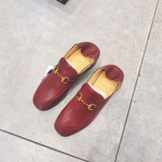 Gucciss Cow Leather Shoes Maroon 34-40