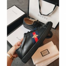 Men's Women's Gucciss Leather Sneakers Shoes 35-44 Black
