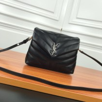 YSL Loulou Mini Leather Shoulder Bag 467072 Black
