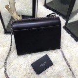 YSL Sunset Handbag Shoulder Bag 442906 Black