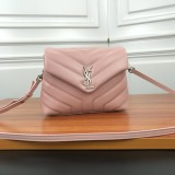YSL Loulou Mini Leather Shoulder Bag 467072 Pink