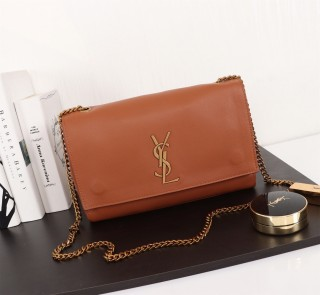 New YSL Saint Laurent Kate Shoulder Bag 553804 Brown