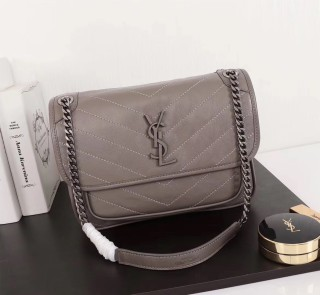 YSL Saint Laurent Niki Handbag Shoulder Bag 498893 Gray