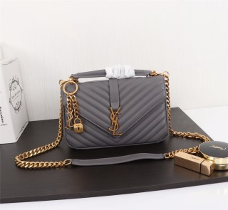 YSL Saint Laurent Medium Handbag Shoulder Bag F26611 Gray