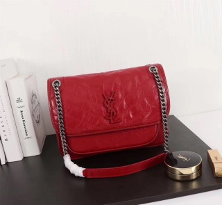 YSL Saint Laurent Niki Handbag Shoulder Bag 498893 Red