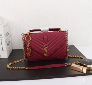 YSL Saint Laurent Medium Handbag Shoulder Bag F26611 Maroon