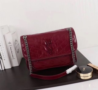 YSL Saint Laurent Niki Handbag Shoulder Bag 498893 Maroon