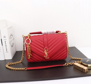 YSL Saint Laurent Medium Handbag Shoulder Bag F26611 Red