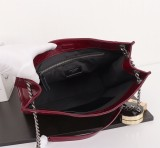 New Ysl Saint Laurent Niki Shopping Tote Bag 577999 Maroon
