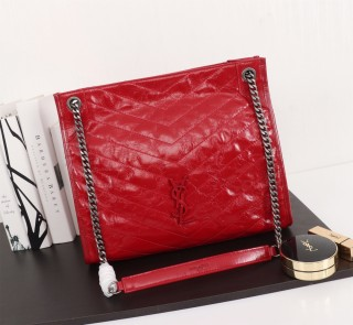 New Ysl Saint Laurent Niki Shopping Tote Bag 577999 Red