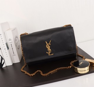 New YSL Saint Laurent Kate Shoulder Bag 553804 Black