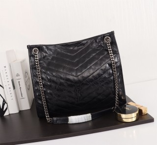 New Ysl Saint Laurent Niki Shopping Tote Bag 577999 Black